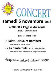 Concert du 5 novembre