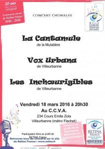 affiche du concerts Rétina 2016